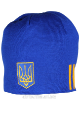 Cap sports Ukraine flag, art. Ukraine flag blue