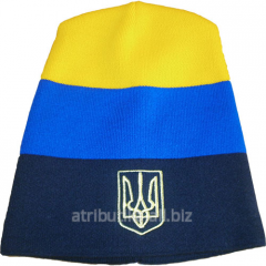 Cap sports Ukraine of Trizub striped 7676, art.