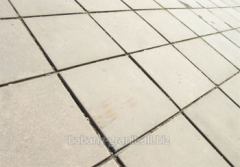 Sidewalk plates from granite to get plates from
