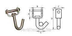 Крюк однопалый J-образный поворотный