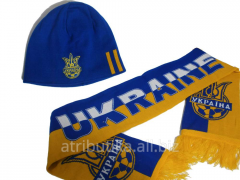 Set of the football fan of Ukraine No. 3 (Scarf +