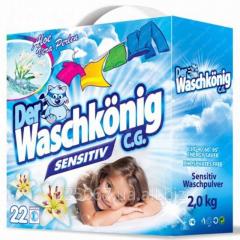 Бесфосфатный стиральный порошок Waschkonig Sensitive 2 кг- 22 стирки
