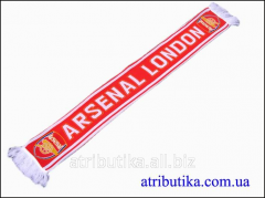 Scarf for fans of the football club Arsenal London