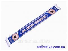 Scarf for fans of football club Desna Chernihiv
