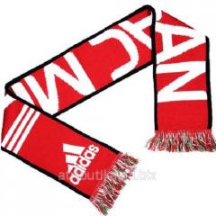 Adidas scarf for fans of football club Milan