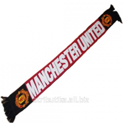 Scarf for fans of the football club Manchester