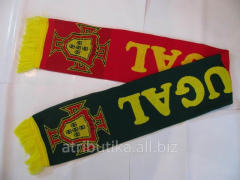 Scarf football for fans of Portuguese national