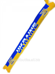 Ukraine scarf for fans with the coat of arms