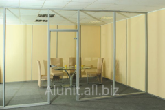 Aluminum all-glass partitions
