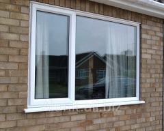 Windows with an energy saving double-glazed window