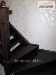 Перила деревянные, лестницы в лом под заказ, Киев
