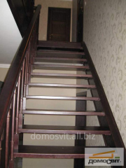 Ladders on the second floor, spiral staircases at