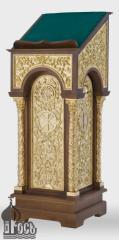 Аналой деревянный одинарный с золочеными элементами №3