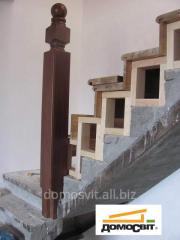 Облицовка бетонной лестницы,  обшивка...