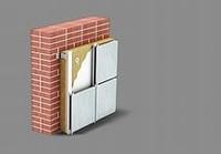 Heater for external warming of a facade of