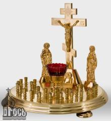 Столик панихидный металлический круглый на 24 свечи