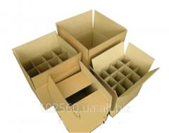 Сборочные четырехклапанные ящики из гофрокартона для бутылок