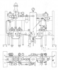 Panel of a brake of a hoist engine of PT