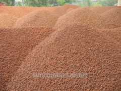 The expanded clay which is packed up (0,05 CBM)