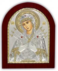 Icon gilded Semistrelnaya silver 925 Silver Axion