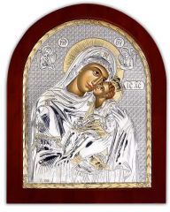 Icon Silver with gilding of the Mother of God of