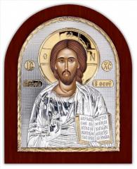 Christ Redeemer Ikona Serebryanaya with gilding on