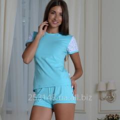 Женская классическая футболка, ментоловая, размер