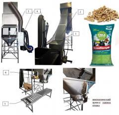 Линия фасовки кормов для животных, гранулированных