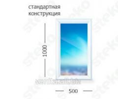 False window of 1000 mm x 500 mm