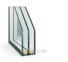 Double-glazed window with the built-in blinds of