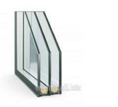 Double-glazed window for giving Stek