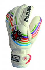 Gloves for the goalkeeper of APS Rainbow, a glove