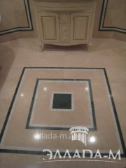 Floor from a natural stone