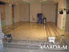 Inlaid floor from a natural stone