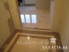 Covering of floors from a natural stone