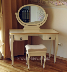 Dressing table with a mirror