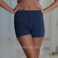 Women's shorts classical, dark-blue, size M