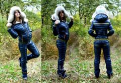Теплый лыжный женский костюм на меху (6 цветов).