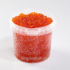 Caviar of a Siberian salmon of Premium without