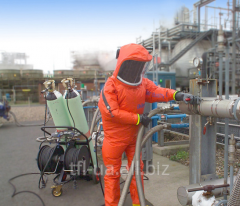The filtering respirator with air supply of Dräger