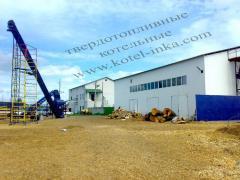 Boiler room for heating of greenhouses pyrolysis