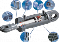 Hydraulic cylinders of all types