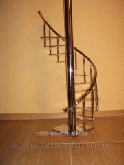 Pass a spiral staircase from stainless steel in