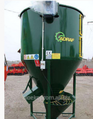 The mixer for dry feeds of 1000 kg