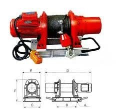 Winch electric KDJ-500E1, 500 kg
