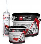 Mastic for gluing of a flexible tile