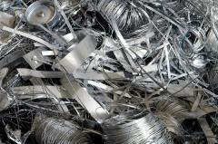 Scrap and waste of stainless steel, and also