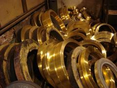 Brass. Scrap of brass, waste of brass and bronze,