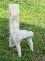 A Chair made of wood in the country style