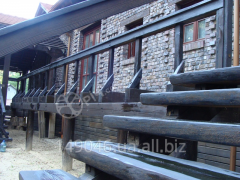 The façade of wood for the cottage